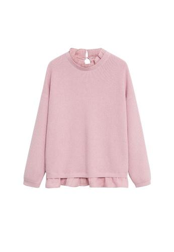 MANGO KIDS pink Shirt Hem Sweater EA148KA002CB13GS_1