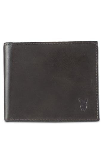 Playboy grey Playboy Genuine Leather Wallet EA533ACF349440GS_1