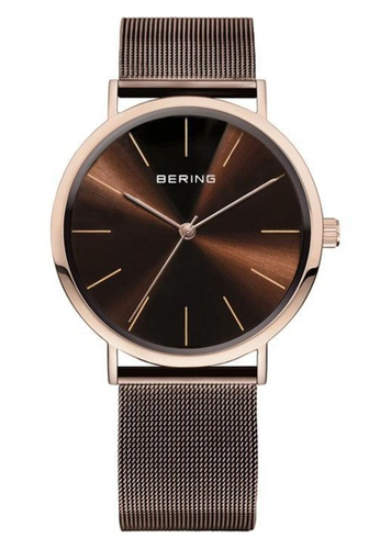 Bering brown Classic 13436-265 White 36 mm Unisex Watch A33FCAC1B92588GS_1