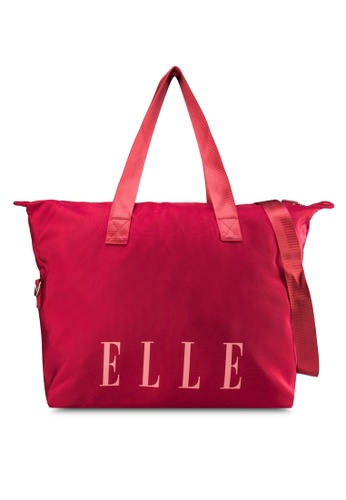 ELLE red Sierra Shopper Bag EL900AC13IICMY_1