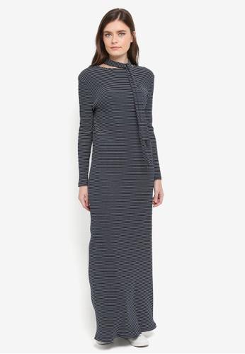 Zalia navy Stripe Rib Dress D2562AAF1A5A62GS_1