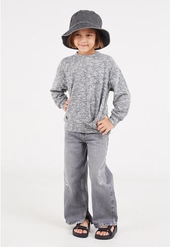 Gen Woo grey Grey Marl Sweater 383B5KA8B3BBA6GS_1