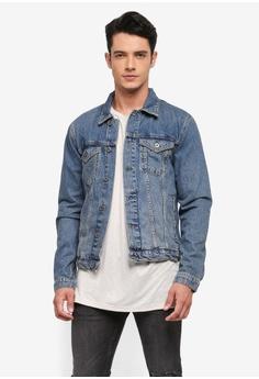 Topman blue Mid Wash Denim Jacket 1C3B2AA2923A4EGS_1