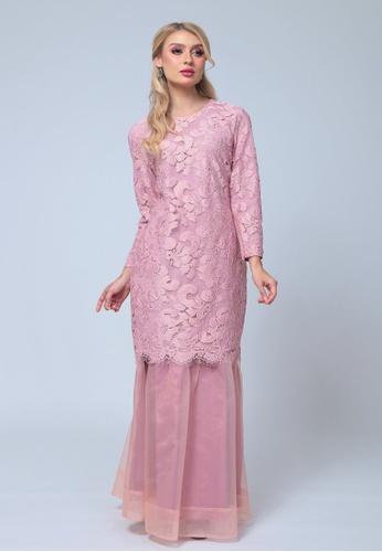 Emanuel Femme pink EMANUEL Organza Mini Kurung 4FEDBAA14B3EDCGS_1