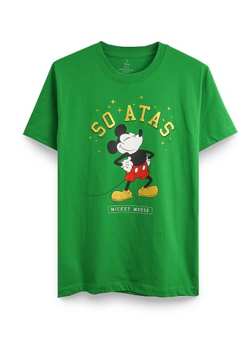GOLDWOOD green DISNEY MICKEY SO ATAS T-SHIRT - GREEN 0ED13AA68DA35EGS_1