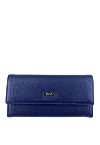 Mel&Co navy Faux Leather Long Wallet E3D9EACD1E5834GS_1