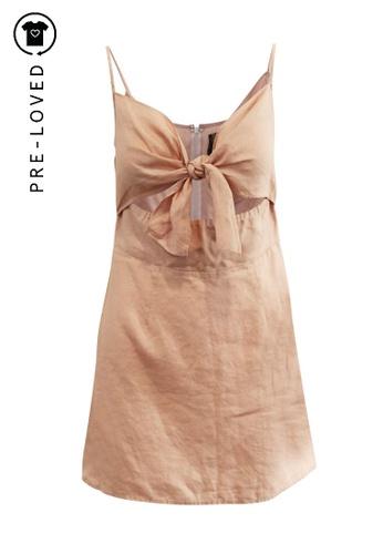 Reformation pink Pre-Loved reformation Pale Pink Linen Dress 53AB0AAF63CE54GS_1