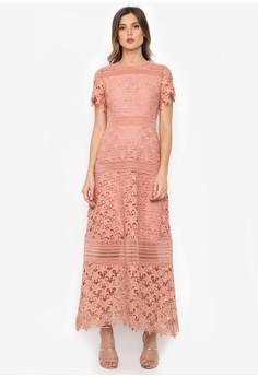 粉色花邊星星长裙