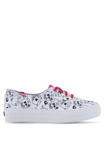 Keds black and white Champion Triple Little Miss Chatterbox Print Sneakers KE942SH0STFBMY_1