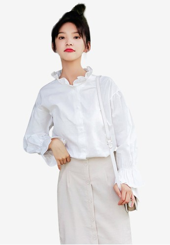 Shopsfashion white Ruffles Blouse FA514AA11487F2GS_1