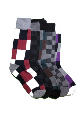 M-Wanted black and grey and white and brown and red and purple M. My Daily Socks-tual Assorted Pattern Socks 5 Pack 4BBB2AABC59CE0GS_1