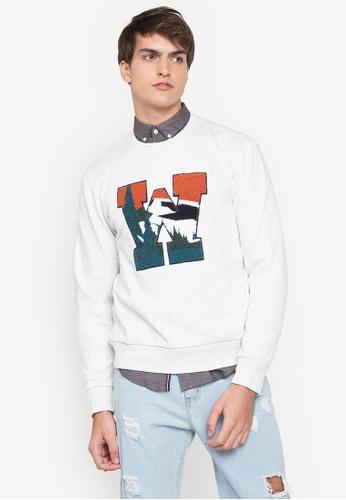 Springfield white Varsity Box Sweatshirt 52468AAD18F375GS_1