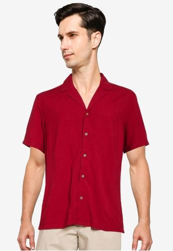 ZALORA BASICS red Relaxed Shirt 94F45AA618C090GS_1