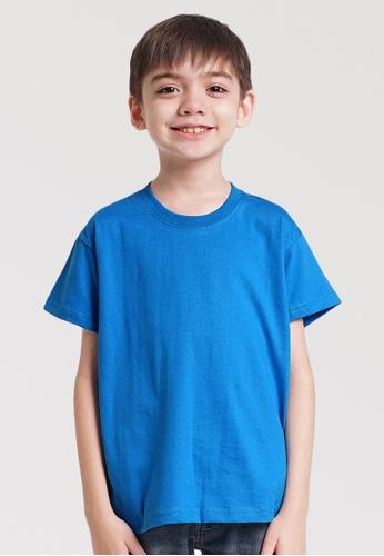 CROWN blue Kids Boys Round Neck Tshirt C2B5EKA738618AGS_1