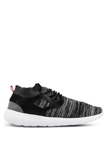 Brave Soul black and multi Sock Fit Trainers E24FDSHF62353BGS_1