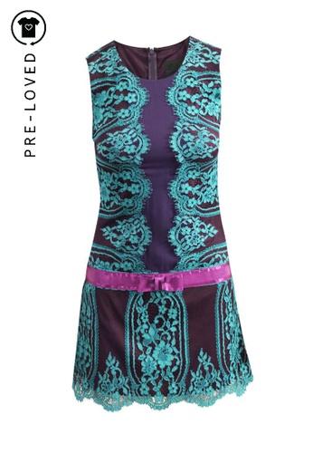 Anna Sui 紫色 二手 anna sui 紫色蕾絲連衣裙 C9229AA5AAEDC1GS_1