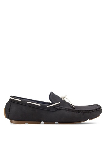 UniqTee black Tie-Front Slip On Loafers UN097SH19RFOMY_1
