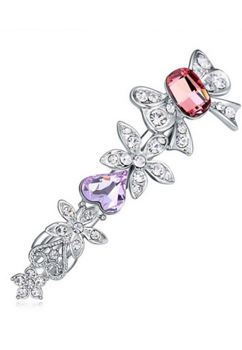 LOVENGIFTS pink and purple and silver LOVENGIFTS Princess Katie Hair Clip (Purple) F1851BE742BF26GS_1