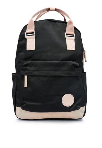Bagstationz black Colour Block Top Handle Backpack C4B0EAC05DEC01GS_1