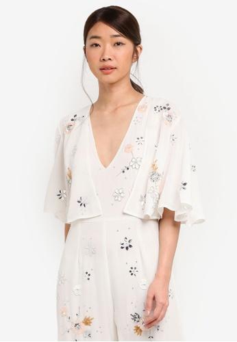 Miss Selfridge white Floral Embroiderd Jacket 59F16AAD9085F5GS_1