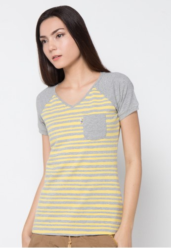 LOIS JEANS yellow Short Sleeve T-Shirt LO391AA90JYNID_1