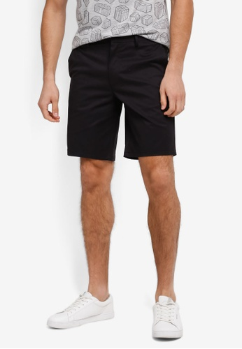 Burton Menswear London black Chino Shorts BU964AA0SWMBMY_1