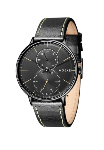 ADEXE Watches black ADEXE Watches Foresser Men Leather 08F50AC56175EFGS_1