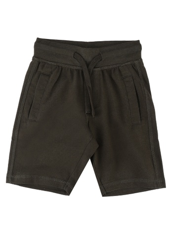 FOX Kids & Baby green Basic Drawstrings Boy Shorts B7D45KA0D960D5GS_1
