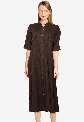 JEANASIS grey Pocket T-Shirt Dress 3DE75AAAC224F5GS_1