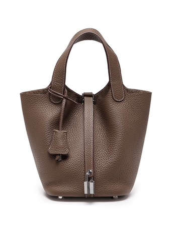 Twenty Eight Shoes brown VANSA Simple Leather Bucket Hand Bag VBW-Hb928700L 86AABACB4B6B78GS_1