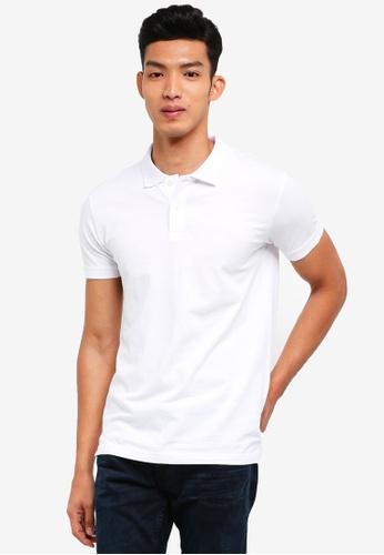 ESPRIT 白色 短袖POLO衫 A5868AA9A1FA90GS_1