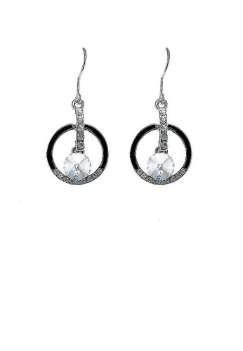 Glamorousky silver Enchanting Earrings with Silver Austrian Element Crystal CD3EBAC845B437GS_1