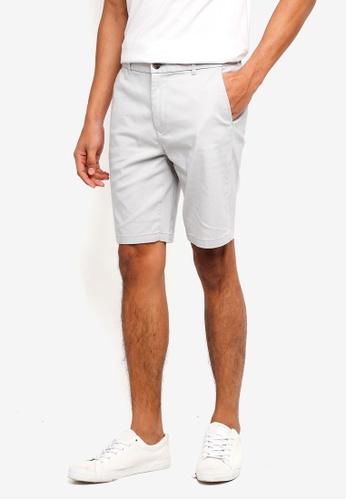 Burton Menswear London grey Grey Chino Shorts 15062AA7318058GS_1