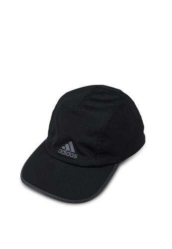 ADIDAS black aeroready runner mesh cap 0BD24AC7FBAF5BGS_1
