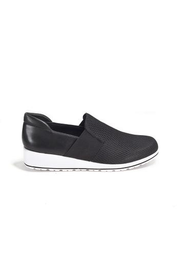 Shu Talk 黑色 WALKING CRADLE 雙色真皮悠閒運動款女鞋 881D9SH635FC78GS_1