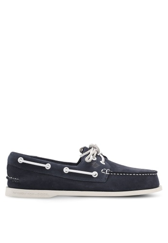 Sperry navy 2-Eye Washable Boat Shoes SP132SH0SXAVMY_1