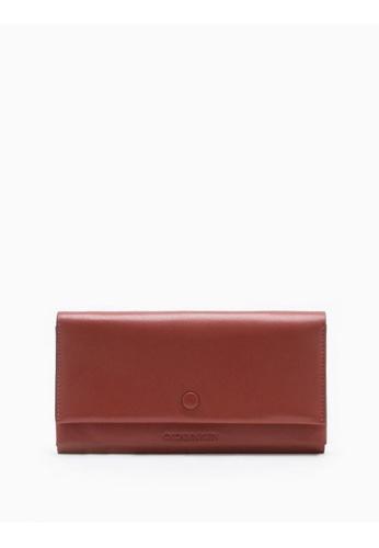 Calvin Klein pink Origami Long Flap Wallet F42E3ACA87D5C9GS_1