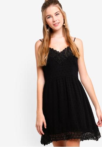 Something Borrowed black Camisole Lace Dress 0C899AAD0844FCGS_1