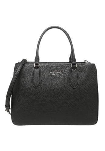 Kate Spade black Kate Spade Large Leighton WKR00168 Satchel Bag In Black 8B73DAC32185F9GS_1