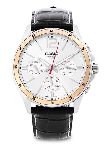 Casio black Analog Watch MTP-1374L-7AVDF AE4C8ACE643873GS_1