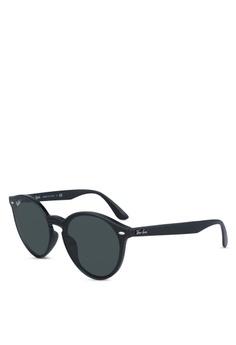 5201e4201d206 Ray-Ban black RB4380NF Sunglasses 0B4F2GLEEE57EDGS 1