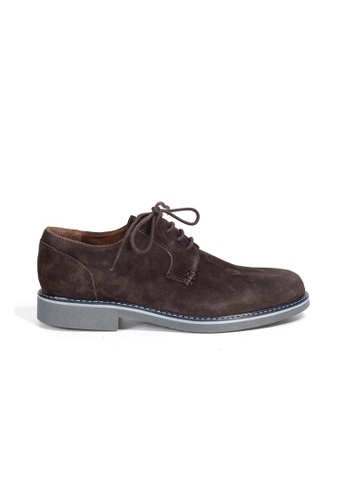 Shu Talk brown eMocs Men Suede Leather Derby Shoes 22F40SH05B793CGS_1