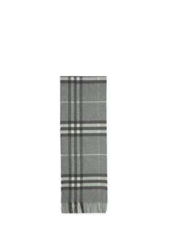 Burberry grey Check cashmere scarf F425CACE9FC158GS_1