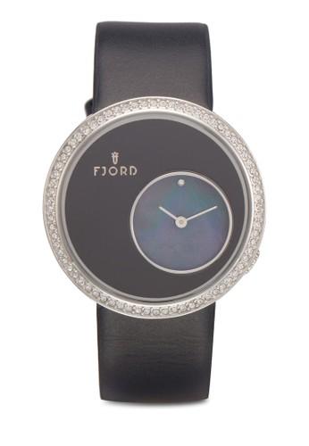 Helga esprit手錶專櫃閃鑽日本機芯手錶, 錶類, 飾品配件