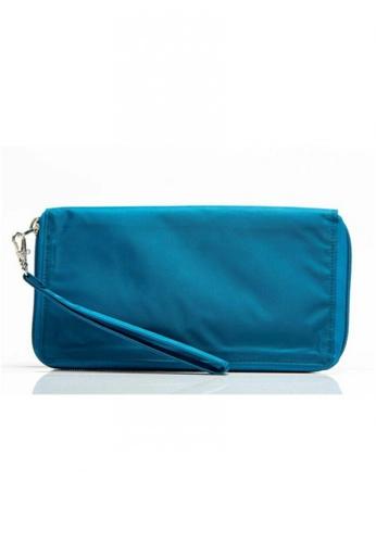 Big Skinny Wallets blue Nylon Panther Clutch BI722AC05KHQPH_1