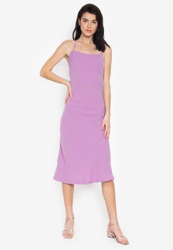 the___edit purple Coco Strappy Slip On Midi Dress CAB04AA5C083B8GS_1