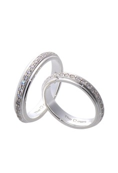 Full Eternity Silver Couple Ring with Artificial Diamonds lr0017