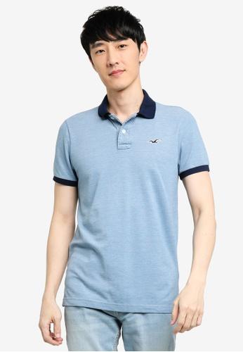 Hollister blue Core Polo Shirt 1D041AA898A90EGS_1