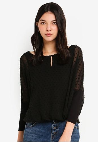 ESPRIT black Woven Long Sleeve Blouse 6231EAACD76409GS_1