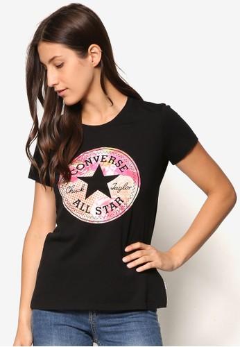 名稱印花精緻TEE、 服飾、 T-shirtConverse品牌印花設計TEE最新折價